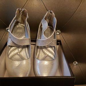 Little Girls Silver Tahari Dress Shoes
